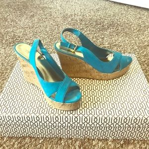 Turquoise Wedge Sandal